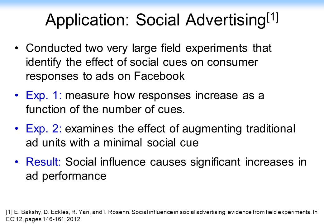 Application: Social Advertising[1]